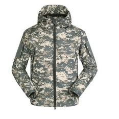 Discount Shark Skin Soft Shell Jacket Outdoor Military Tactical Jacket Windproof Sports Army Camouflage Clothing Acu Intl