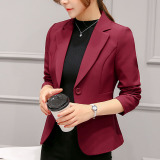 Women S Casual Suit Jacket Wine Red Color Wine Red Color Promo Code