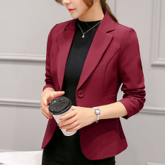 Who Sells Women S Casual Suit Jacket Wine Red Color Wine Red Color The Cheapest