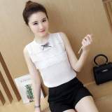 Review Short Sleeved New Style Blouse Chiffon Shirt White Oem