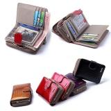 Cheapest Short Women S Real Leather Checkbook Wallet Card Holder Purse Id Lady Handbag Intl