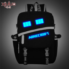 Xiu Luo World Backpack Black And Blue Luminous Eyes Black And Blue Luminous Eyes Online