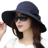 Brand New Siggi Womens Summer Bucket Boonie Upf 50 Wide Brim Sun Hat Cord Cap Beach Accessories Navy Os Intl