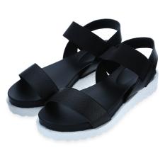 Discount Simple Design Open Toe Platform Sandals For Ladies Black Oem