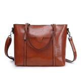 Simple Nappa Leather Large Hand One Shoulder Bag New Style Women S Bag Brown Shopping