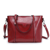 Simple Nappa Leather Large Hand One Shoulder Bag New Style Women S Bag Red Coupon Code