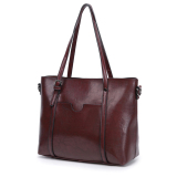Get Cheap Simple Nappa Leather Large Hand One Shoulder Bag New Style Women S Bag Red Wine