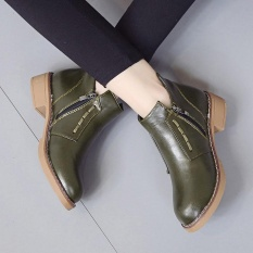 Single Short Boots Women British Martin Boots Lace-Up Women Boots Shoes Gn/35 - Intl By Erpstore.