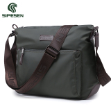 Wholesale Sipesen Men S Shoulder Bag Canvas Bag Sports Casual Man Bag Messenger Bag Oxford Cloth Waterproof Nylon Backpack Dark Green Cross Section Trumpet