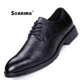 Price Size 38 43 Genuine Leather Men Oxford Shoes Lace Up Casual Business Men Shoes Soaring Brand Men Wedding Shoes Kasut Perniagaan Lelaki Black Intl Soaring Original