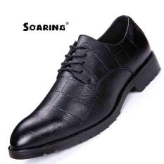 Where Can You Buy Size 38 43 Genuine Leather Men Oxford Shoes Lace Up Casual Business Men Shoes Soaring Brand Men Wedding Shoes Kasut Perniagaan Lelaki Black Intl