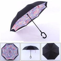 Sku514167 Sku495275 Double Layer Upside Down Inverted Umbrella Reverse Design Umbrella Windproof - Intl By Five Star Store.