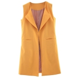 Sleeveless Candy Color Ladies Trench Coat S Jacinth Tc China