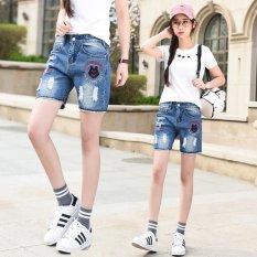 Review Slim Denim Shorts Women Hot Pants Frayed Short Jeans Female Capris Pants Beach Shorts Intl Oem On China