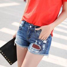 Buy Slim Denim Shorts Women Hot Pants Frayed Short Jeans Female Capris Pants Beach Shorts Intl Oem