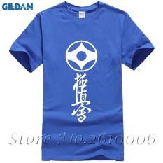 Latest Slim Fit Kyokushin Karate Short Sleeve T Shirt Men Cotton Round Neck Full Sleeves Kyokushin T Shirt For Men S Blue Intl