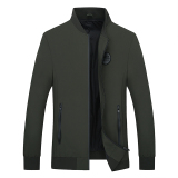 Slim Fit Models Thin Plus Sized Spring And Autumn Men S Jacket New Style Jacket Dark Green Color Discount Code