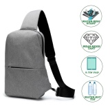Sale Sling Chest Bag Outdoor Travel Hiking Crossbody Daypack For Men Women Grey Intl Online China
