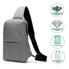 Sling Chest Bag Outdoor Travel Hiking Crossbody Daypack For Men Women Grey Intl Free Shipping