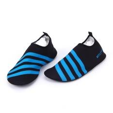 Slip on Men Women Surf Aqua Beach Water Socks Shoes Sport Yoga Swim Blue XL -