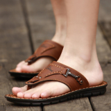 Review Tide Men Cleated Platform Sandals Slippers Deep Brown Deep Brown China