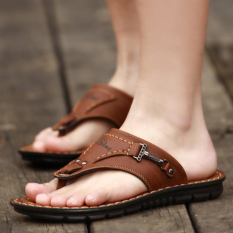 Store Tide Men Cleated Platform Sandals Slippers Deep Brown Deep Brown Oem On China