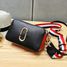 Top Rated Women S Korean Style Broad Strap Square Bag For Camera Black Distribution 2 Root Shoulder Strap Black Distribution 2 Root Shoulder Strap