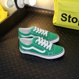 Get Cheap Couple S Fashion Low Top Canvas Sneakers Green Green