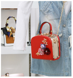 Where To Buy Small Square Korean Style Chain Mini Small Bag Red