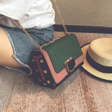 Brand New Small Square Korean Style Female New Style Atmosphere Shoulder Messenger Bag Small Bag Green