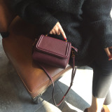 Compare Prices For Small Square Korean Style Female New Style Mini Shoulder Bag Bags Red Wine