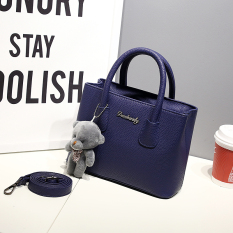 Who Sells Small Square Korean Style Free New Style Portable Shoulder Bag Smiley Bag Dark Blue Color