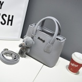 Compare Price Small Square Korean Style Free New Style Portable Shoulder Bag Smiley Bag Gray On China