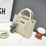 Purchase Small Square Korean Style Free New Style Portable Shoulder Bag Smiley Bag Off White Color