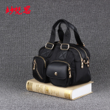 Who Sells The Cheapest Small Square Nylon Cloth Double Layer Large Capacity Women S Bag Handbag Black Online