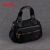 Low Cost Small Square Nylon Cloth Female Handbag Bag Black Portable