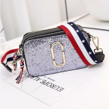 Where Can I Buy Stylish Wide Strap Mini Flap Bag Sequin Silver Sequin Silver