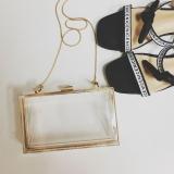 Discounted Small Square Transparent Box Bag Acrylic Evening Bag Transparent