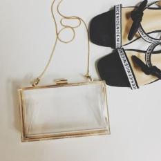 Get Cheap Small Square Transparent Box Bag Acrylic Evening Bag White