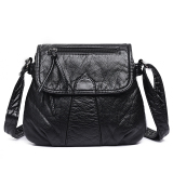 Compare Price Small Square Versatile Nappa Leather Washed Check Or Charge New Style Women S Bag On China