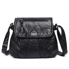 Retail Small Square Versatile Nappa Leather Washed Check Or Charge New Style Women S Bag