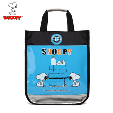 Sale Snoopy Men Girls Cloth Bag Portable Bag Blue On China