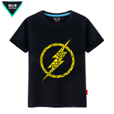 Best Rated Snow To Man Us Drama The Flash T Shirt Short Sleeved Cotton Men And Women Student Short Sleeve Summer European And American Series Black