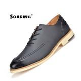Shop For Soaring 2017 New Genuine Leather Mens Dress Shoes High Quality Oxford Shoes For Men Lace Up Business Men Shoes Brand Men Wedding Shoes Kasut Kulit Lelaki Black Intl