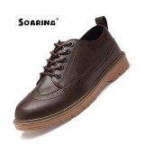 Price Soaring 2017 New Work Boots Men Safety Shoes Big Size 39 44 Ankle Boots Brand Lace Up Shoes Autumn Winter Rubber Boot Lelaki Fesyen But Buku Lali Brown Intl Soaring New