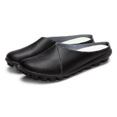 Cheapest Socofy Big Size Pure Color Soft Sole Casual Open Heel Lazy Women Flat Loafers Shoes Intl Online
