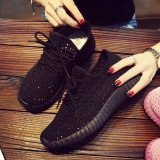 The Cheapest Soft Bottom Female Lace Running Shoes Shoes Black Online