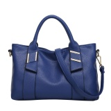 The Cheapest Soft Pu Leather Top Handle Satchel Tote Bag Lichee Pattern Shoulder Bag High Capacity Handbag For Women Blue Intl Online