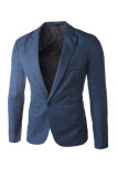 Buy Solid Color Casual Suit Jacket Royal Blue Intl China