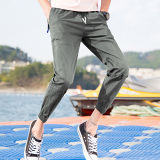 Sports Casual New Style Ankle Length Pants Gray For Sale Online